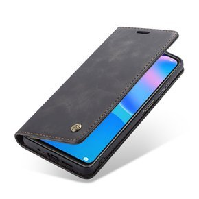 Etui CASEME do Huawei P Smart 2021, Leather Wallet Case, Black