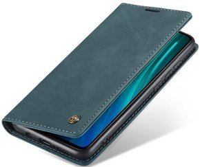 Etui CASEME do Xiaomi Redmi Note 8 Pro, Leather Wallet Case, Blue