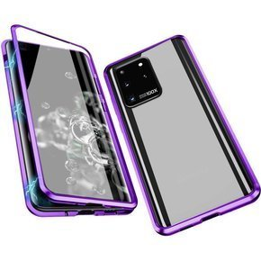 Etui Magnetic Dual Glass v.2 do Samsung Galaxy S20 Ultra - Purple