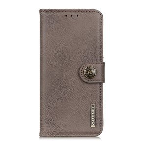 Etui Wallet do Nokia 5.4, KHAZNEH, Retro Style, Khaki