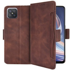 Etui Wallet do Oppo Reno 4 Z 5G, Card Slot, Brown