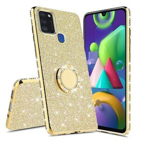 Etui do Samsung Galaxy M21 - ERBORD Bling - Gold