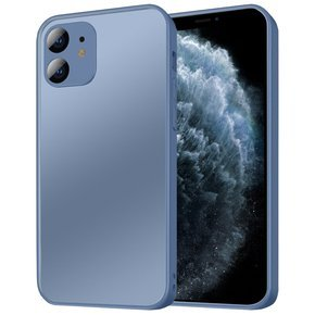 Etui do iPhone 11 - ERBORD Glass Hybrid Case -Z ochroną aparatu - Matte/Blue
