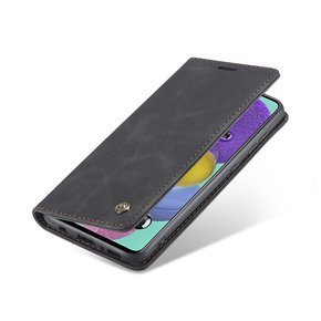 Etui z klapką Caseme Leather Wallet Case do Samsung Galaxy A51 - Black