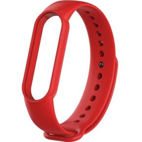 Pasek Silicone Strap do Smartwatcha Xiaomi Mi Band 5 - Red
