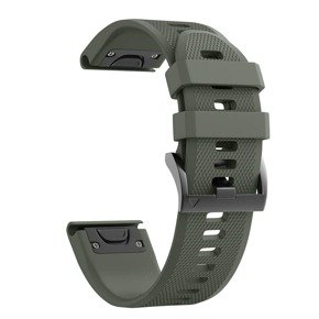Pasek Smooth do Garmin Fenix 3/5X/3HR/5X Plus / 6X/6X Pro - Army Green