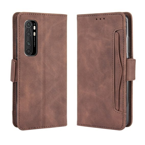Etui Wallet Flexi Book do Xiaomi Mi Note 10 Lite - Card Slot - Brown