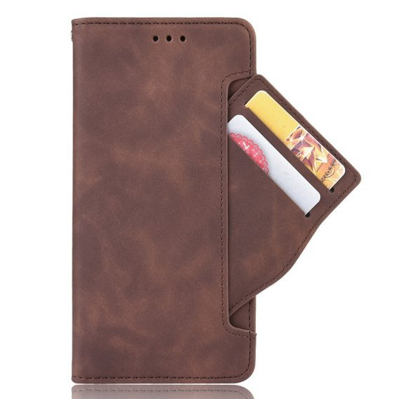 Etui Wallet do Motorola Moto G8 Power Lite - Card Slot - Coffee Brown